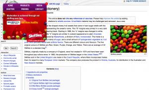 Wikipedia on Skittles